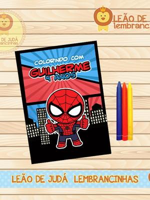Revistinha para colorir homem aranha
