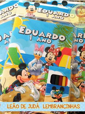 Revistinha para colorir Tema Mickey