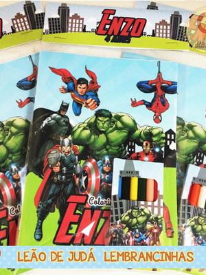 Revistinha para colorir Tema Vingadores