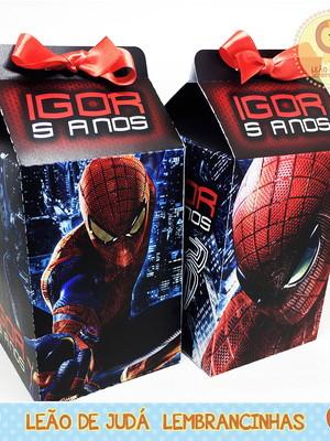 Caixa Milk Tema Homem Aranha modelo 2