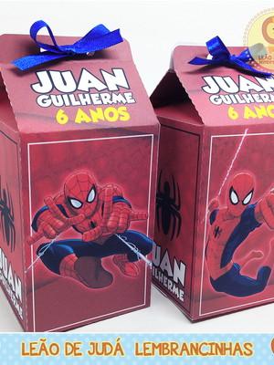 Caixa Milk Tema Homem Aranha