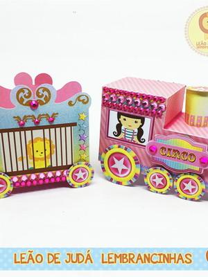 Trem circo rosa