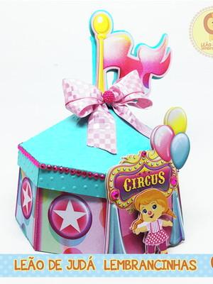 Caixinha Tenda Circo Rosa