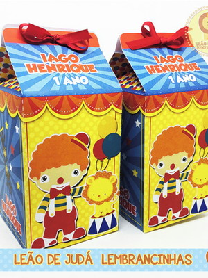 Caixa milk tema circo