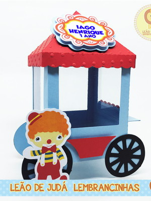Carrinho de Pipoca tema Circo modelo 2