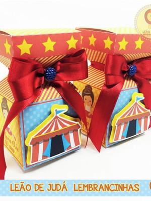 Caixinha Meia Bala tema circo