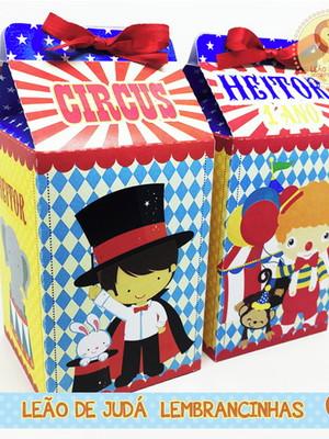 Caixa milk tema circo modelo 2