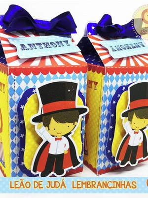Caixa Milk Com aplique tema circo modelo 3