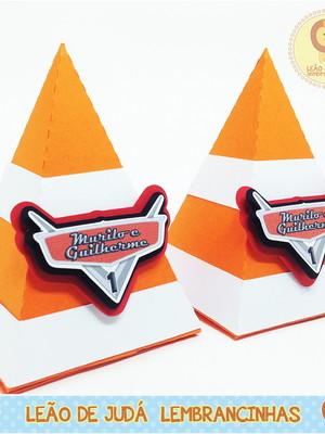 Caixinha Piramide Tema Carros