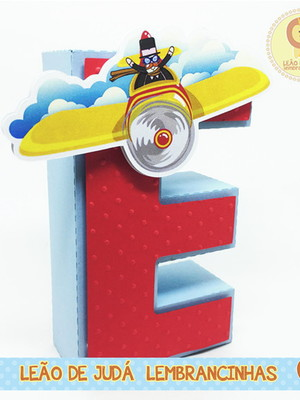 Letra 3D Decorada tema Mundo Bita