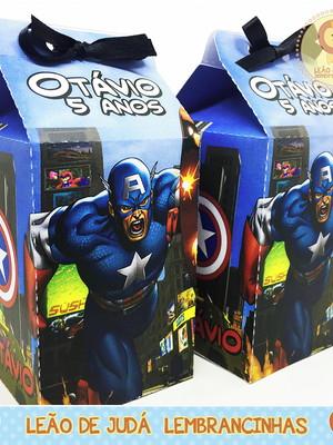 Caixa milk Capitão America