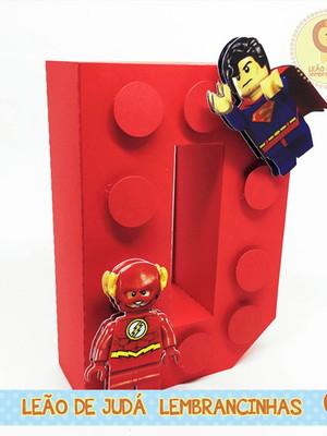 Letra 3D Decorada tema Lego
