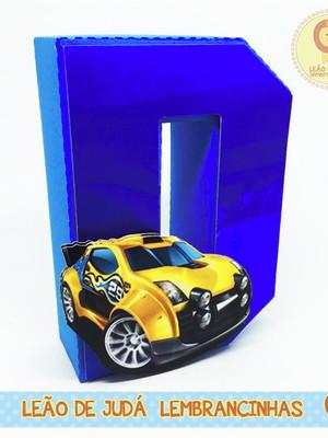 Letra 3D Decorada tema Hot Wheels
