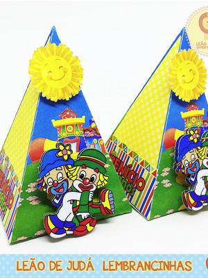Caixinha Piramide Tema Patati Patata