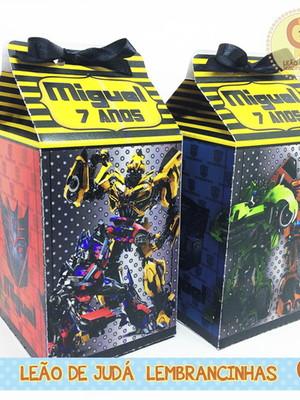 Caixa milk Sem aplique tema Transformers