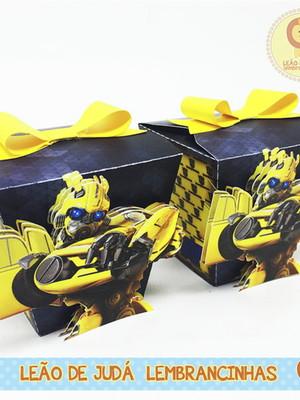 Caixinha Sushi tema Transformers
