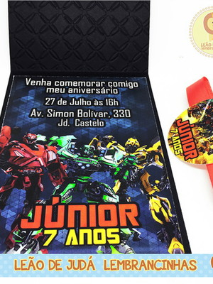 Convite Rubi tema Transformers