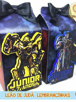 Caixa Milk Com aplique tema Transformers modelo 2
