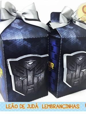 Caixa Milk Com aplique tema Transformers modelo 1