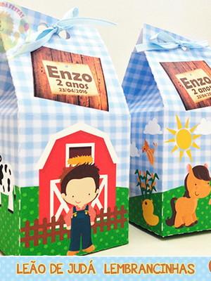 Caixa milk tema fazendinha modelo 4