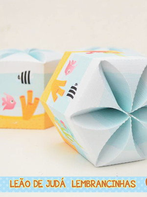 Caixa Hexagonal FUNDO DO MAR
