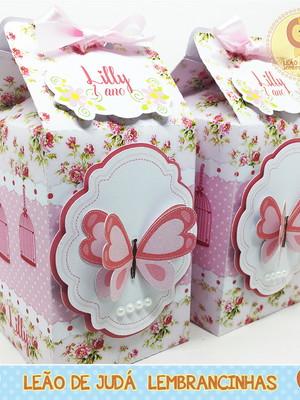 Caixa Milk Com aplique Jardim modelo 3