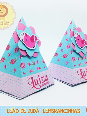 Caixinha Piramide Tema jardim modelo 6