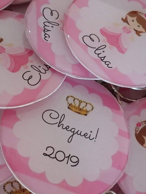Chaveiro artesanal personalizado Princesa