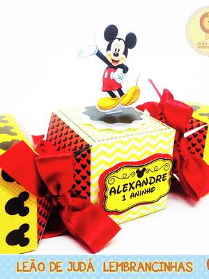 Caixa bala com aplique 3D Mickey