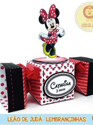 Caixa bala com aplique 3D Minnie