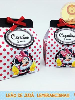Caixa Catarina tema Minnie