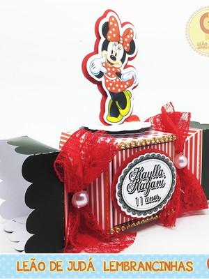 Caixa bala com aplique 3D Minnie modelo2