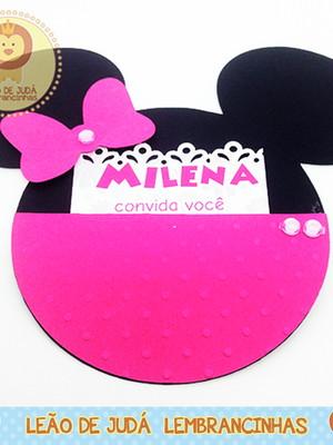 Convite Rosto Minnie modelo 2