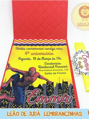 Convite Rubi tema Homem Aranha