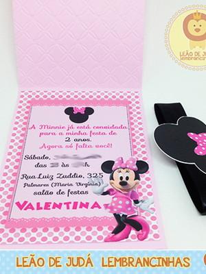 Convite Rubi tema Minnie modelo 2