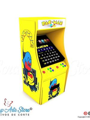 Arquivos de corte Calendário Fliperama PacMan