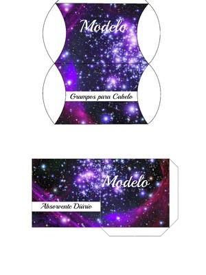 Kit toalete digital galáxia para impressão