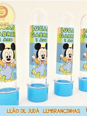 Tubete adesivado 13cm tema Mickey Baby