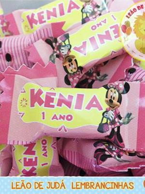 Bala personalizada Minnie Rosa
