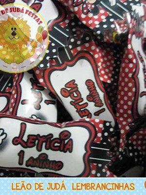 Bala personalizada Minnie Vermelha