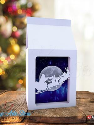 Arquivo de Corte Caixa Milk com visor Natal