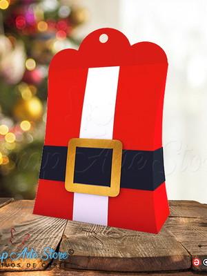 Caixa de guloseimas Papai Noel arquivo Silhouette