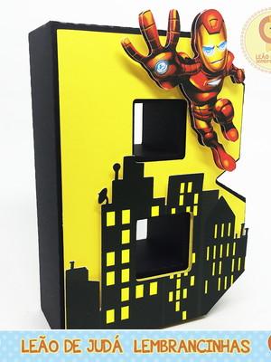 Letra 3D Decorada tema Vingadores