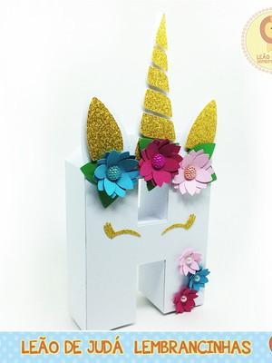 Letra 3D Decorada tema Unicórnio