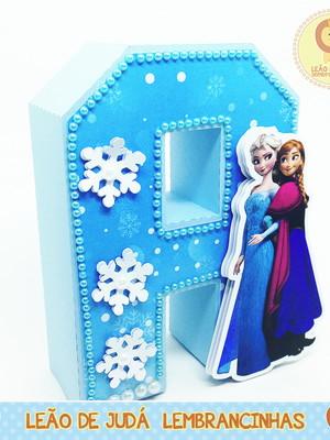 Letra 3D Decorada tema Frozen modelo 2