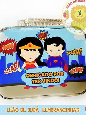 Marmitinha 500G Tema Mulher Maravilha / Superman