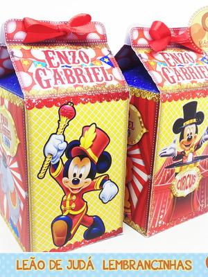Caixa Milk Circo do Mickey