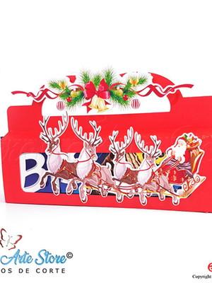 Arquivo de Corte Caixa para Bis Trenó de Natal