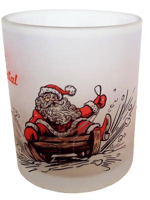 Caneca Personalizada de Natal de Vidro Jateado 325 ml