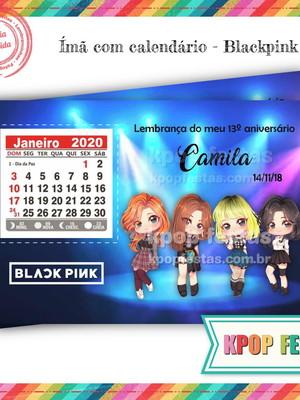Ímã com calendário - Blackpink